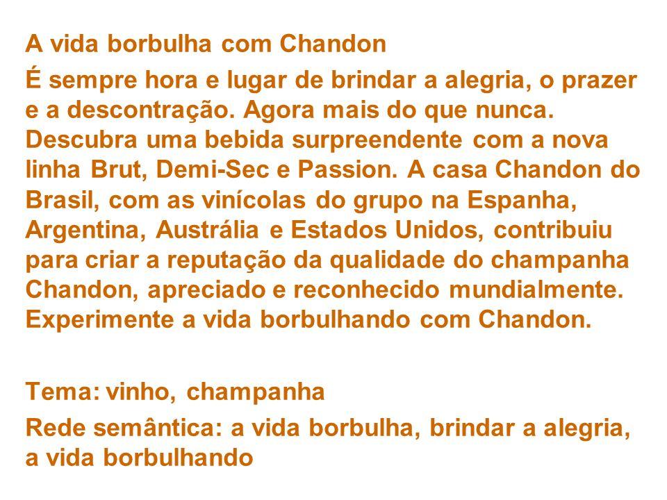 A vida borbulha com Chandon