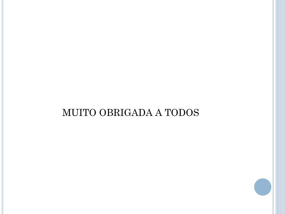 MUITO OBRIGADA A TODOS