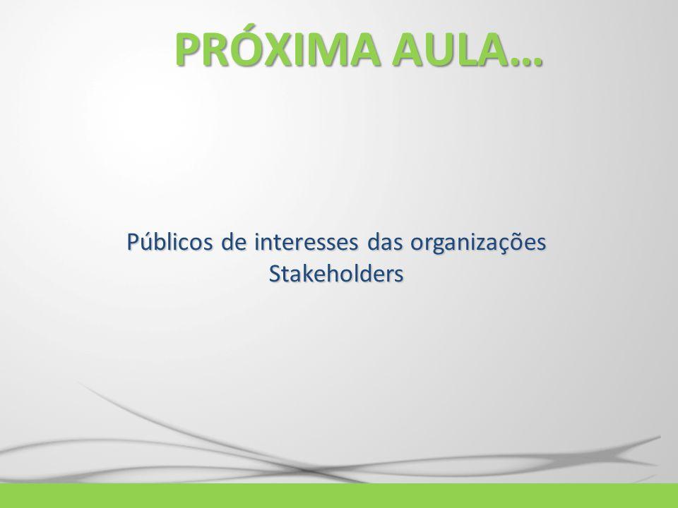 Públicos de interesses das organizações