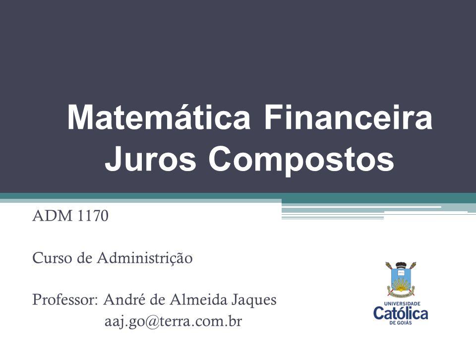 Matemática Financeira Juros Compostos