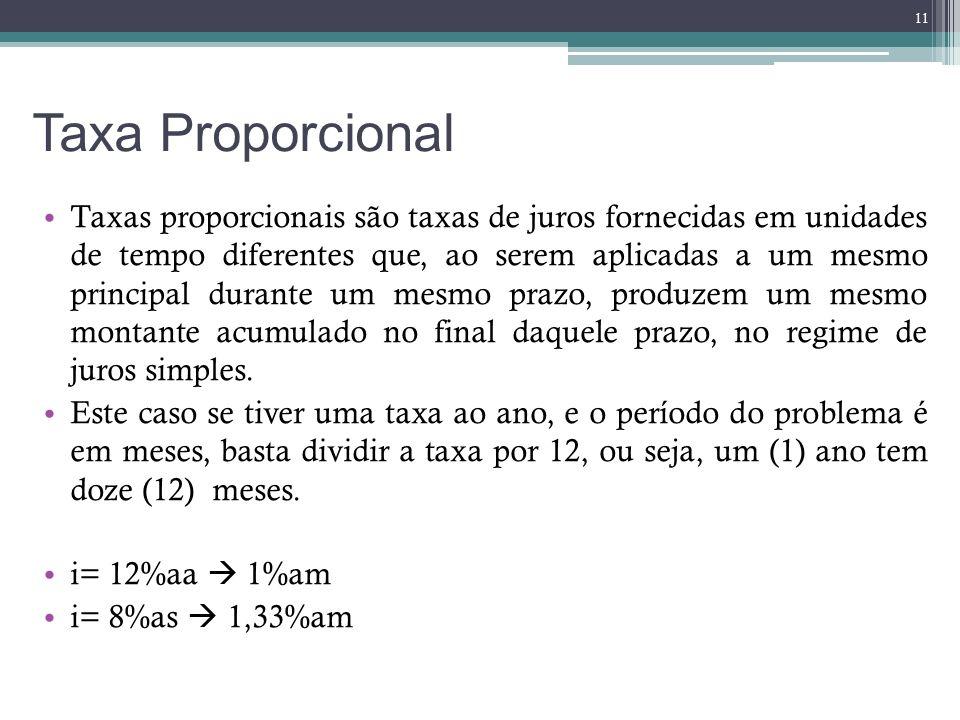 Taxa Proporcional