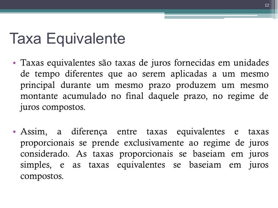 Taxa Equivalente