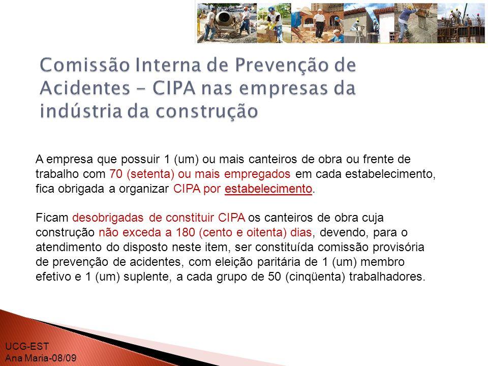 Comissão Interna de Prevenção de Acidentes - CIPA nas empresas da indústria da construção