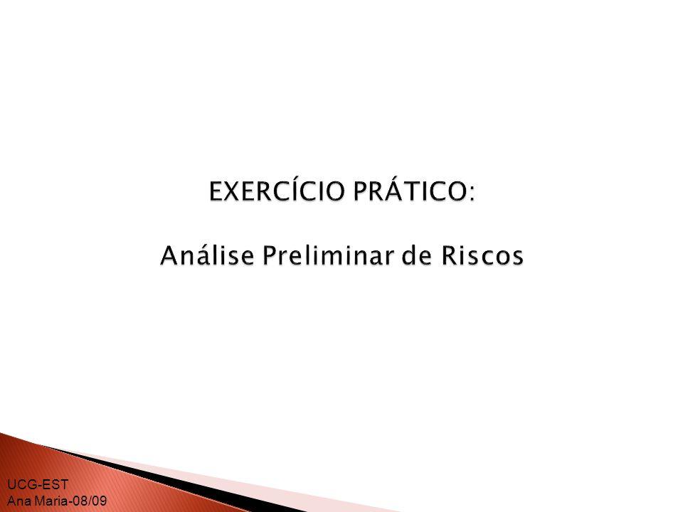 EXERCÍCIO PRÁTICO: Análise Preliminar de Riscos