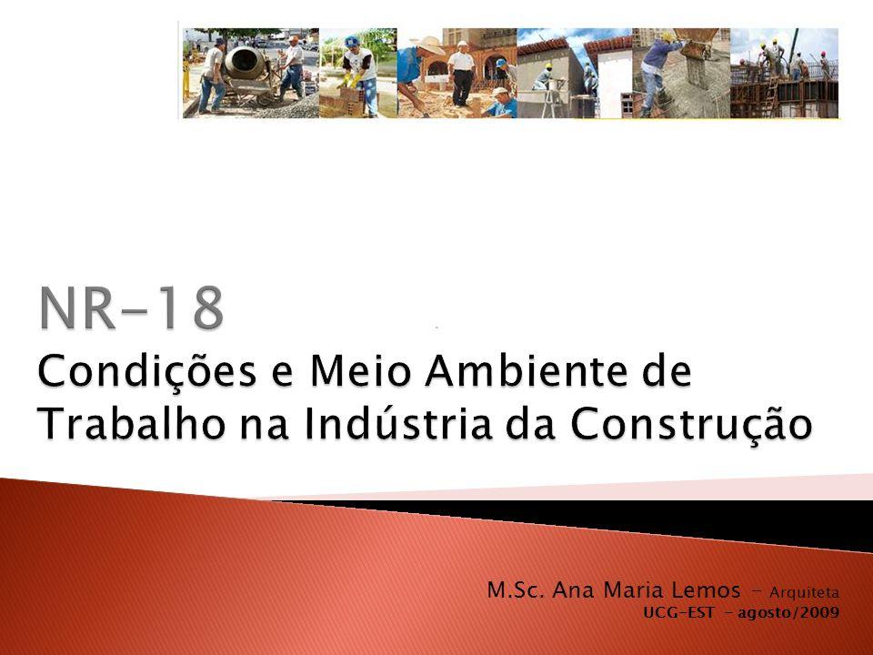 NR-18 Condições e Meio Ambiente de Trabalho na Indústria da Construção
