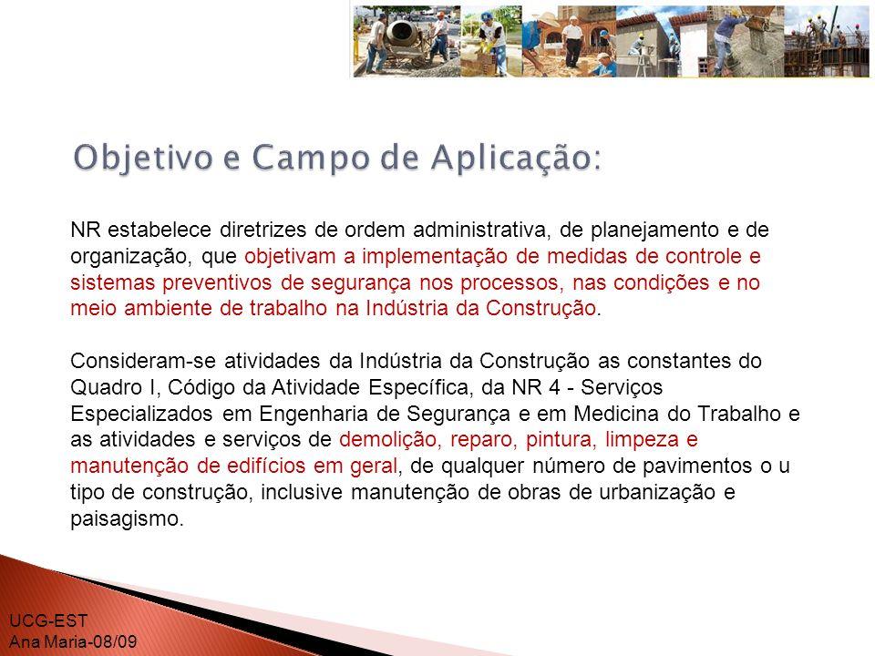 Objetivo e Campo de Aplicação: