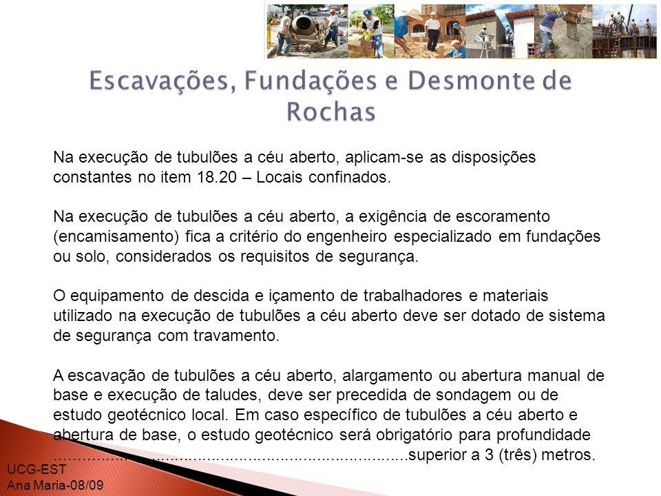 Escavações, Fundações e Desmonte de Rochas