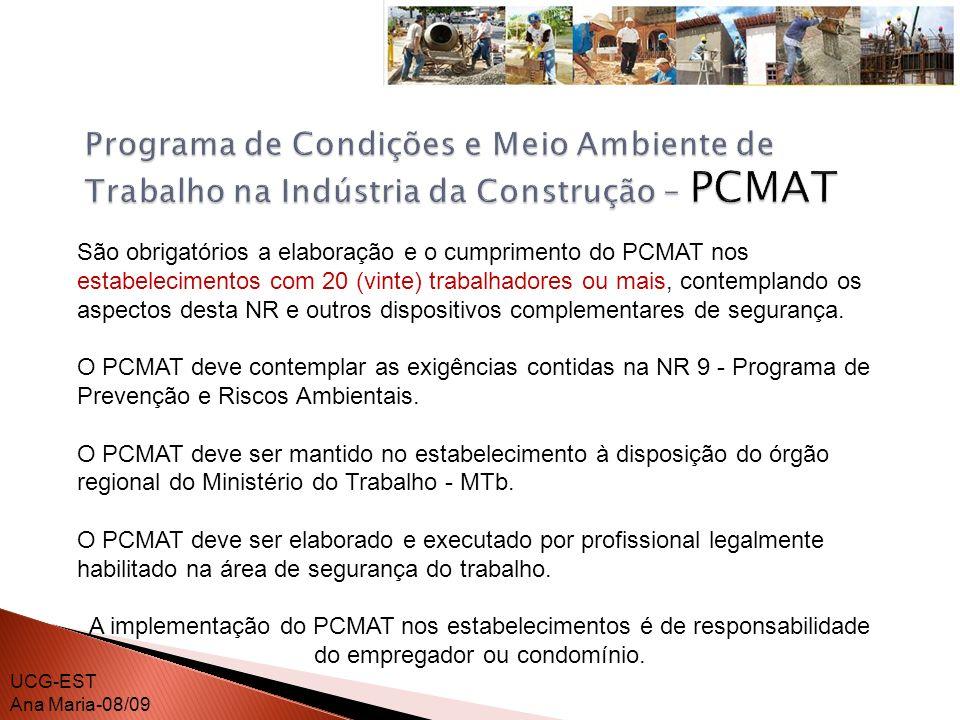Programa de Condições e Meio Ambiente de Trabalho na Indústria da Construção – PCMAT