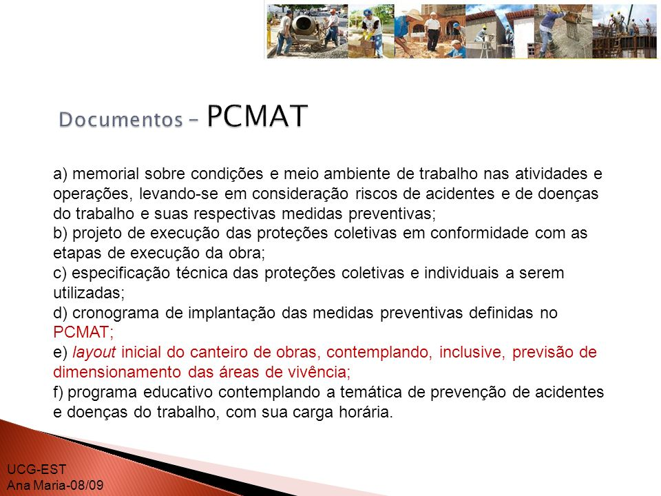 Documentos – PCMAT