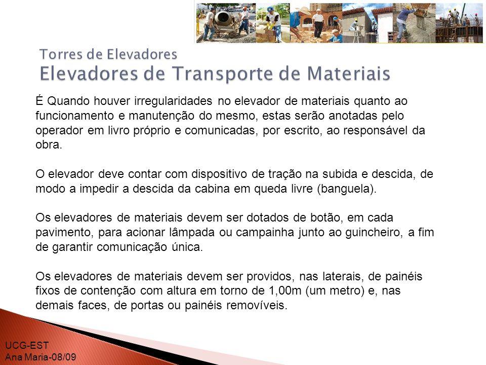 Torres de Elevadores Elevadores de Transporte de Materiais