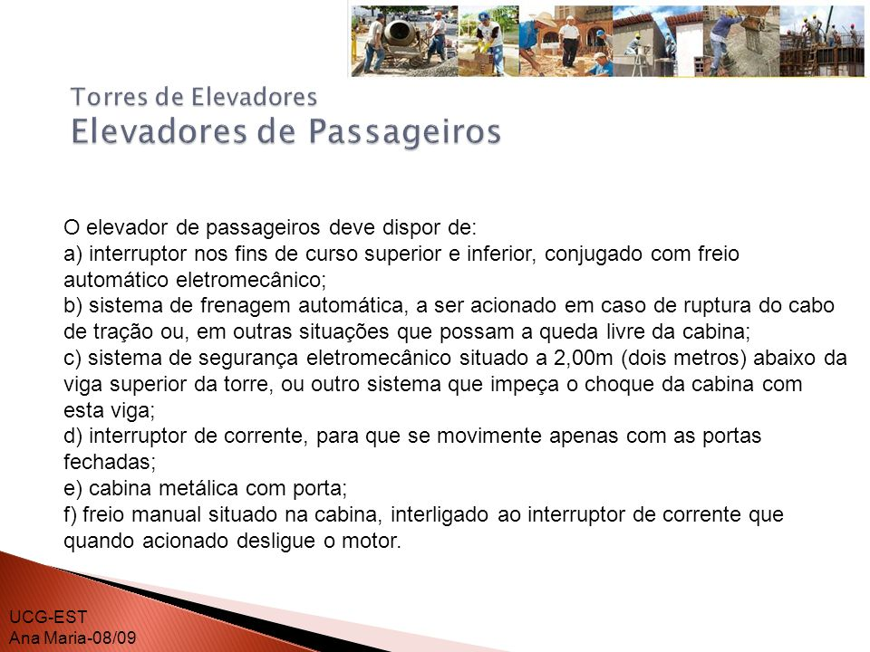 Torres de Elevadores Elevadores de Passageiros