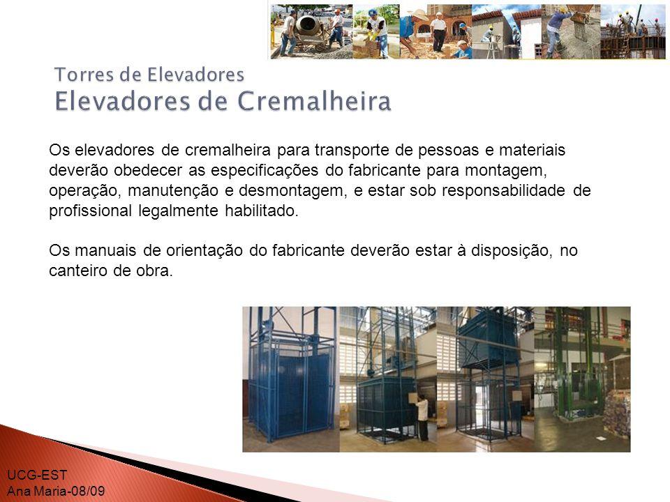 Torres de Elevadores Elevadores de Cremalheira