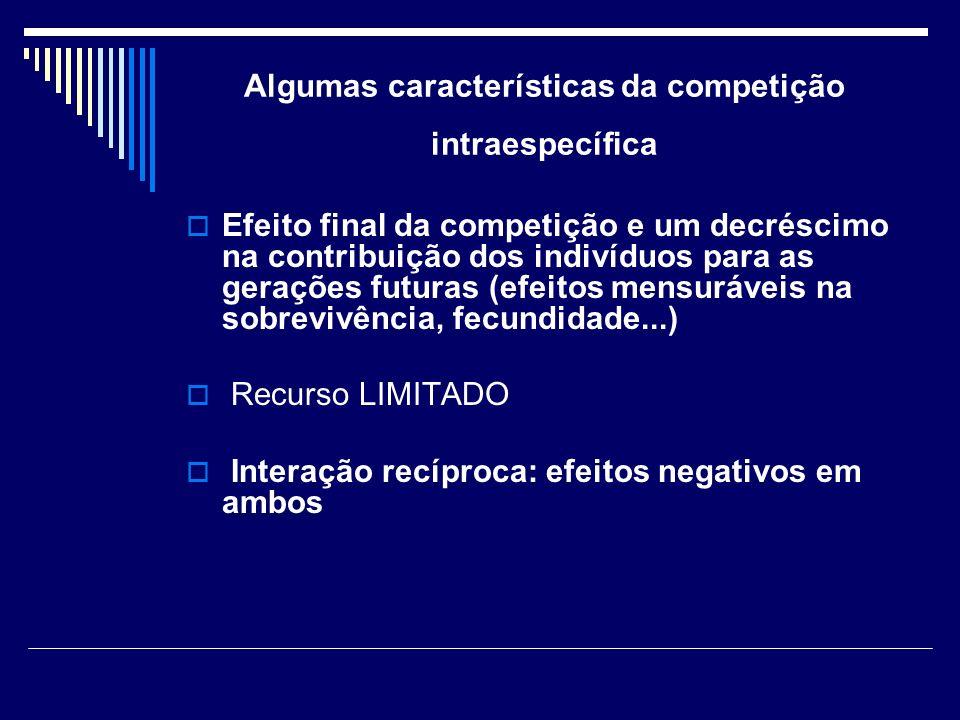 Algumas características da competição intraespecífica
