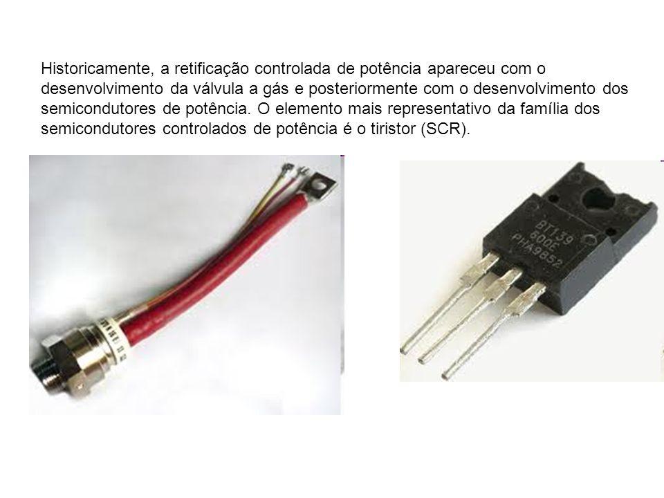 Historicamente, a retificação controlada de potência apareceu com o desenvolvimento da válvula a gás e posteriormente com o desenvolvimento dos semicondutores de potência.