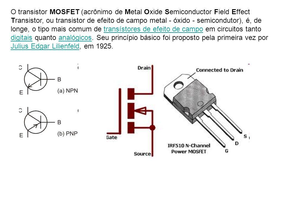 O transistor MOSFET (acrônimo de Metal Oxide Semiconductor Field Effect Transistor, ou transistor de efeito de campo metal - óxido - semicondutor), é, de longe, o tipo mais comum de transístores de efeito de campo em circuitos tanto digitais quanto analógicos.