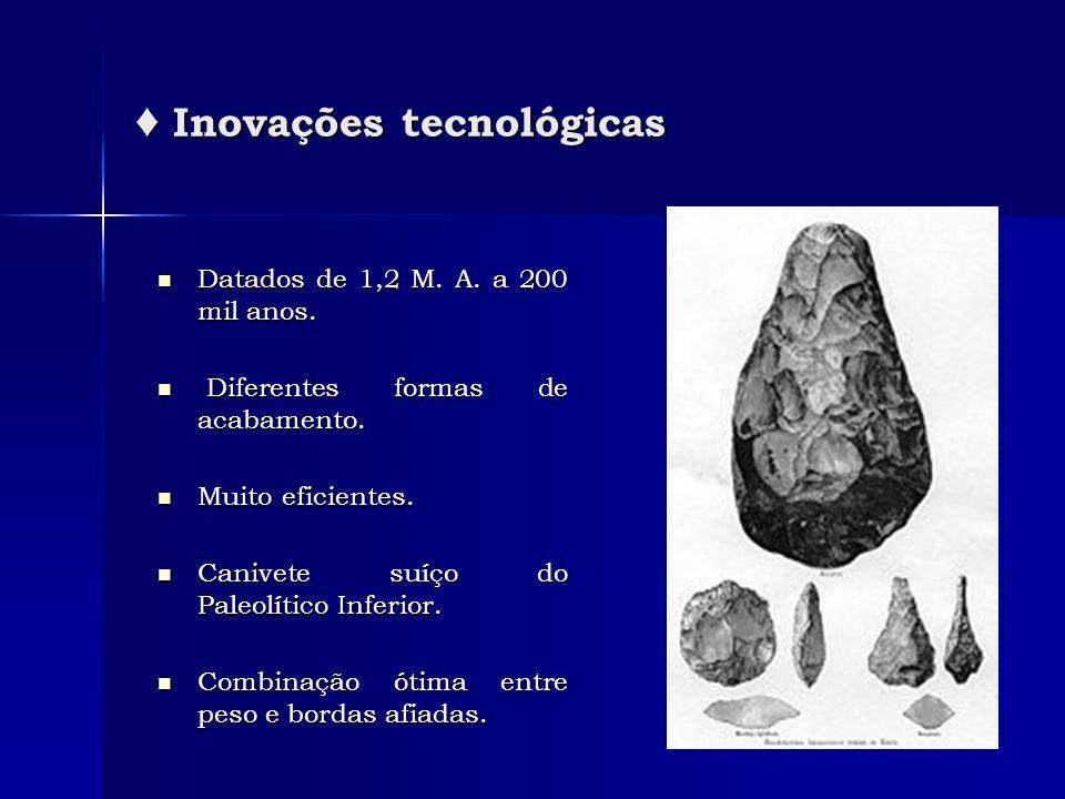 ♦ Inovações tecnológicas