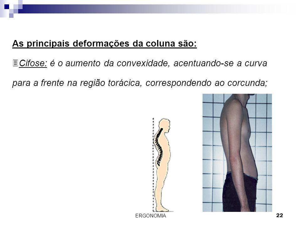 As principais deformações da coluna são: