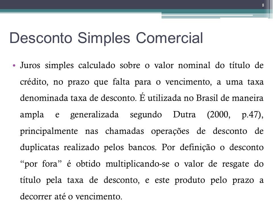 Desconto Simples Comercial