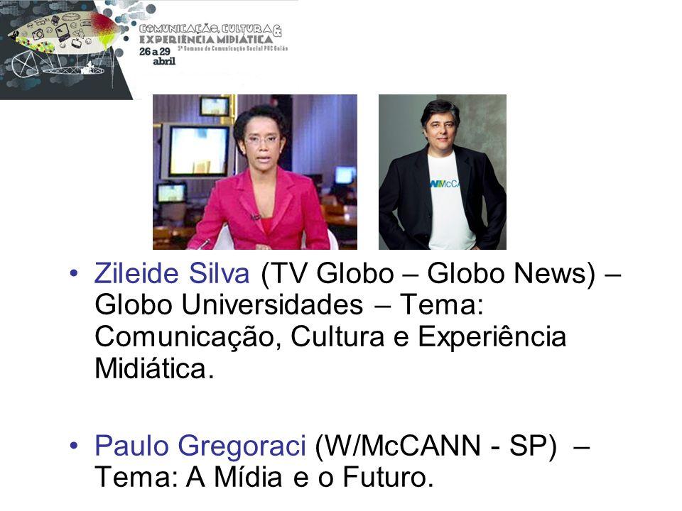 Zileide Silva (TV Globo – Globo News) – Globo Universidades – Tema: Comunicação, Cultura e Experiência Midiática.