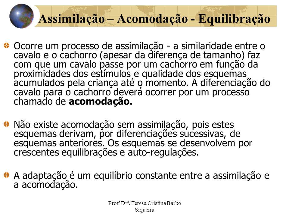 Assimilação – Acomodação - Equilibração