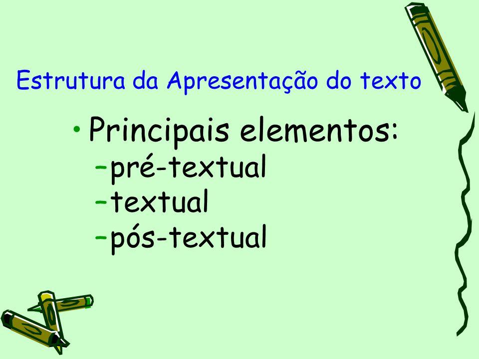 Estrutura da Apresentação do texto