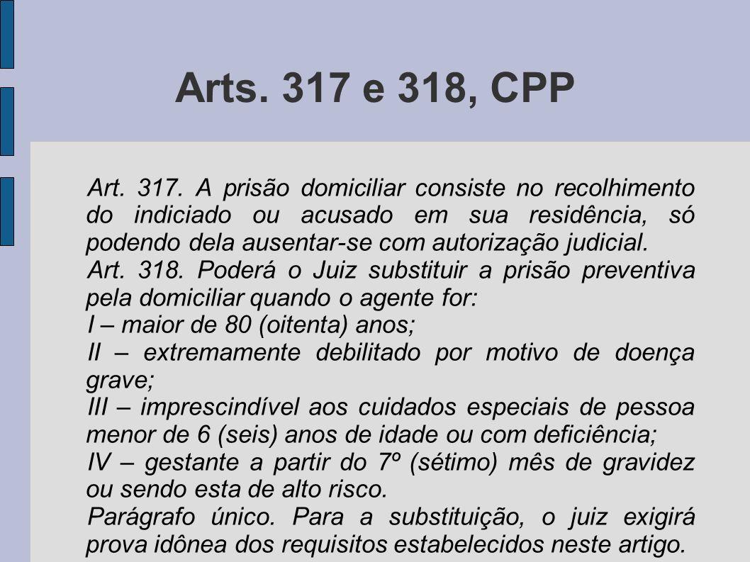 Arts. 317 e 318, CPP