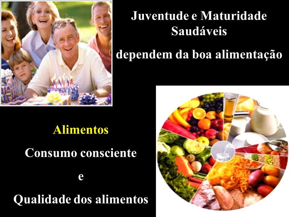 Juventude e Maturidade Saudáveis dependem da boa alimentação