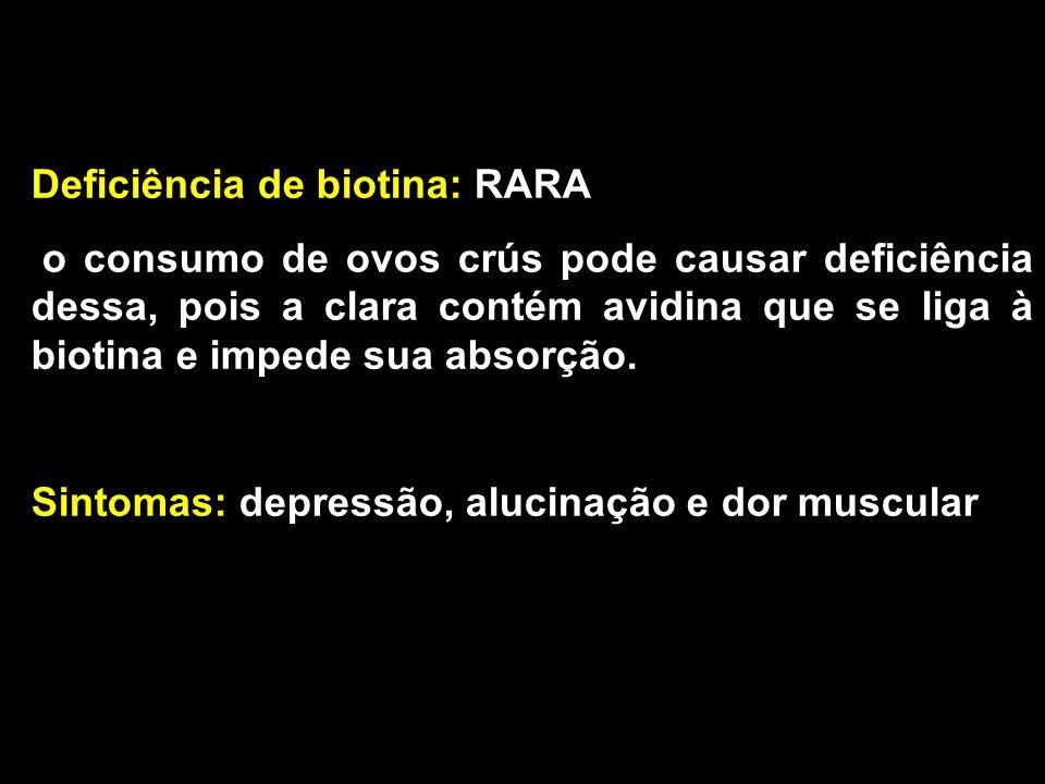 Deficiência de biotina: RARA