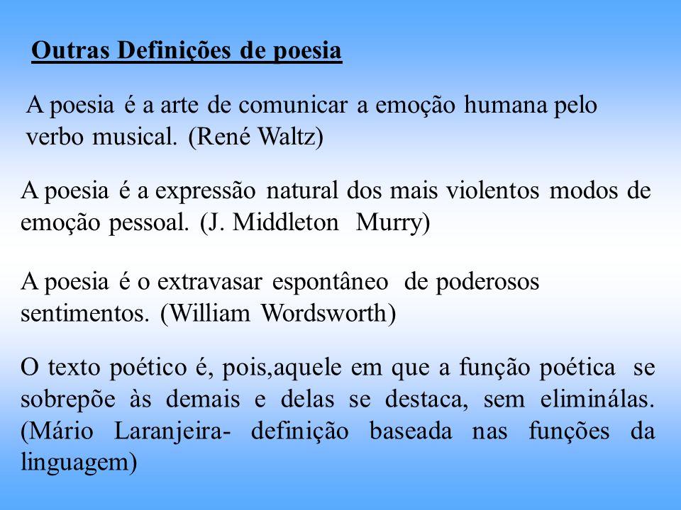 Outras Definições de poesia