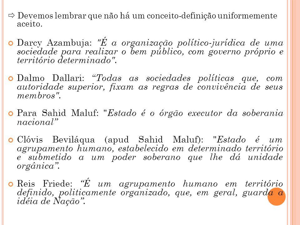 Para Sahid Maluf: Estado é o órgão executor da soberania nacional