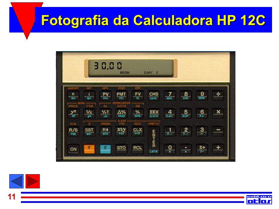 Fotografia da Calculadora HP 12C