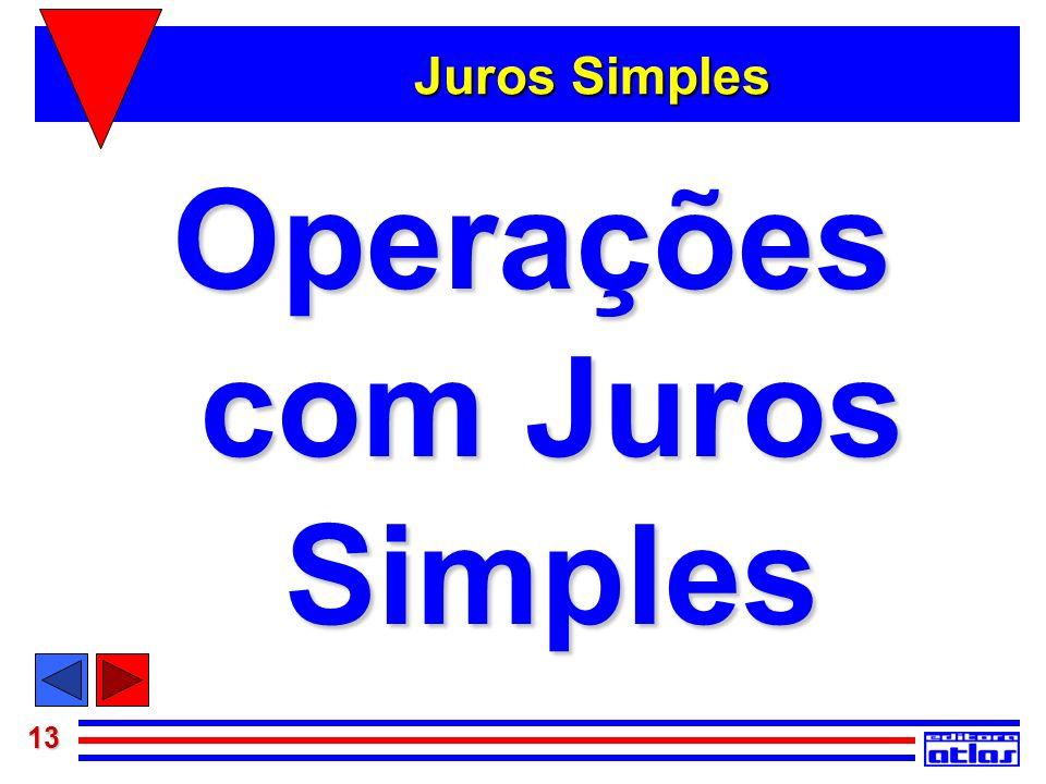 Operações com Juros Simples