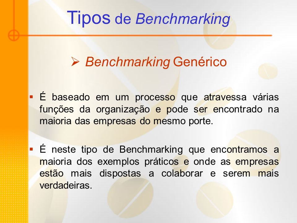 Benchmarking Genérico