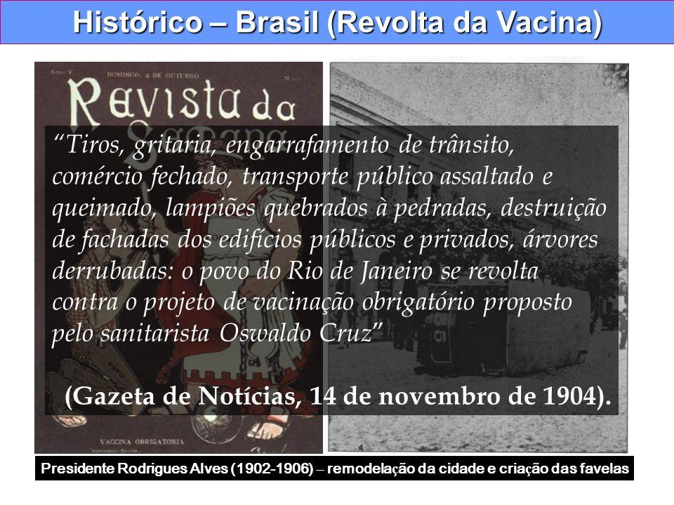 Histórico – Brasil (Revolta da Vacina)