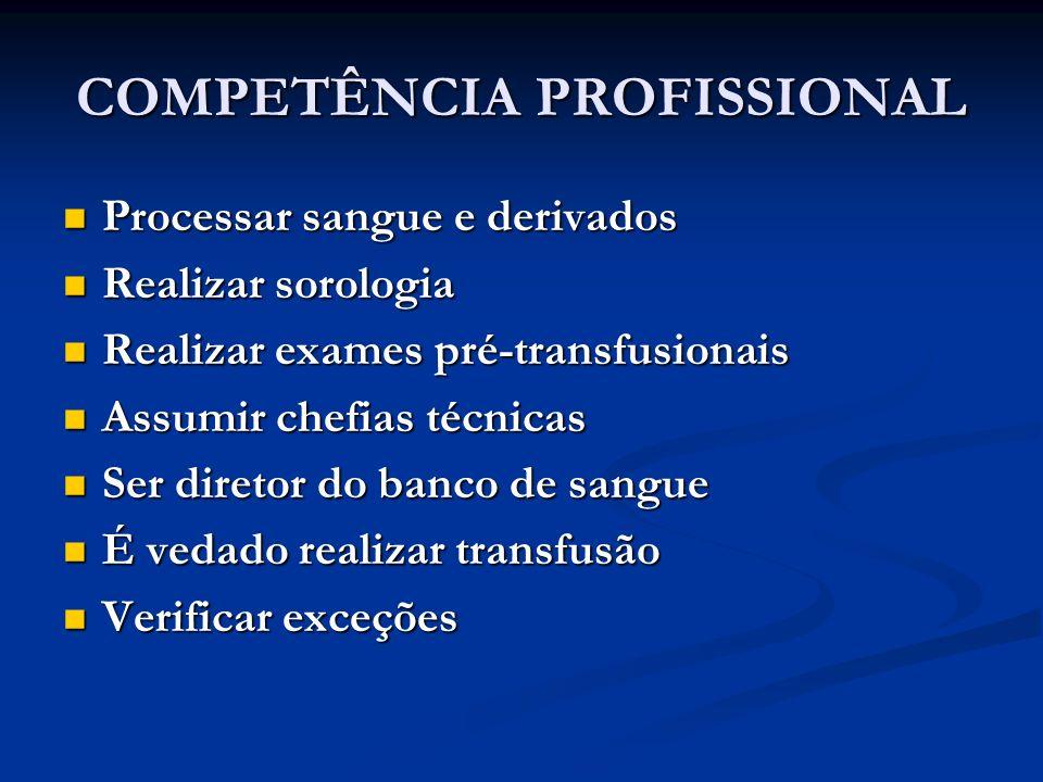 COMPETÊNCIA PROFISSIONAL