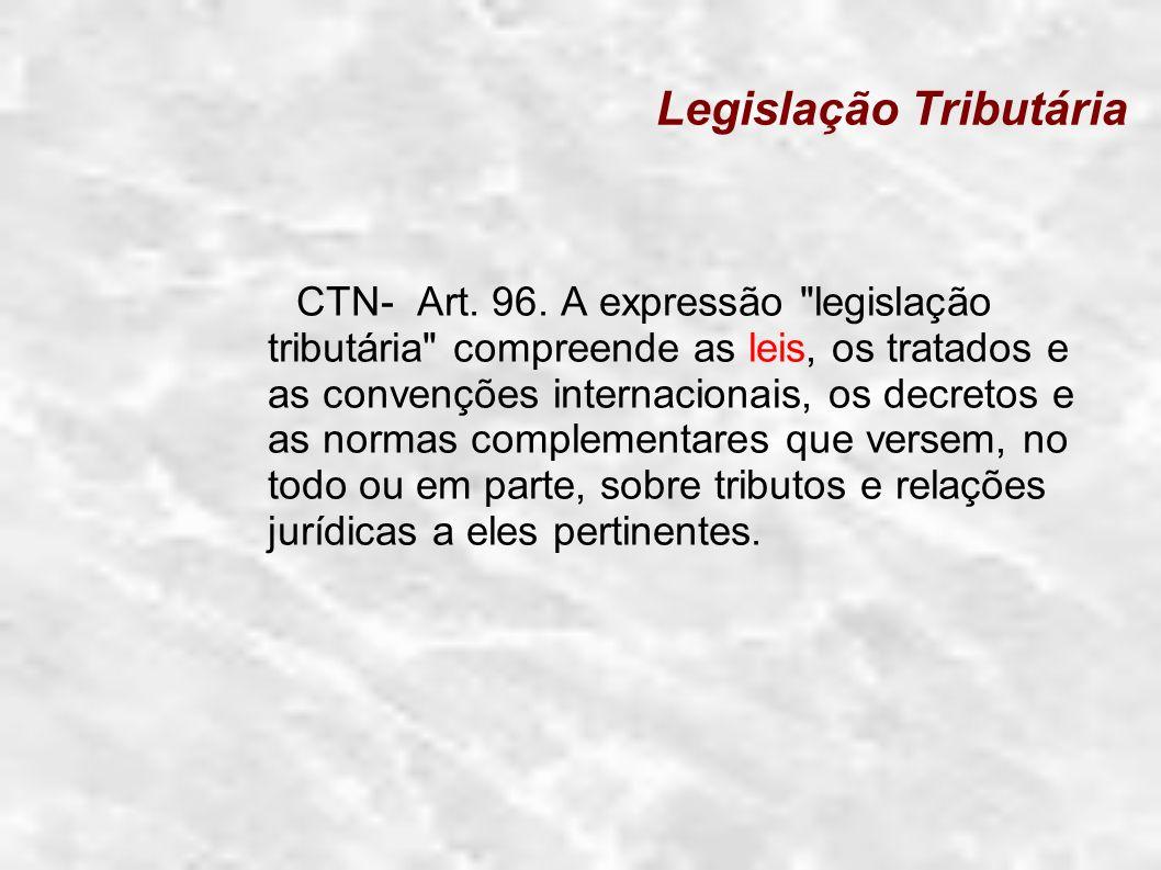 Legislação Tributária