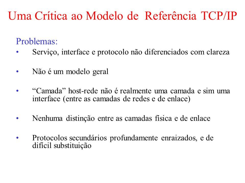 Uma Crítica ao Modelo de Referência TCP/IP