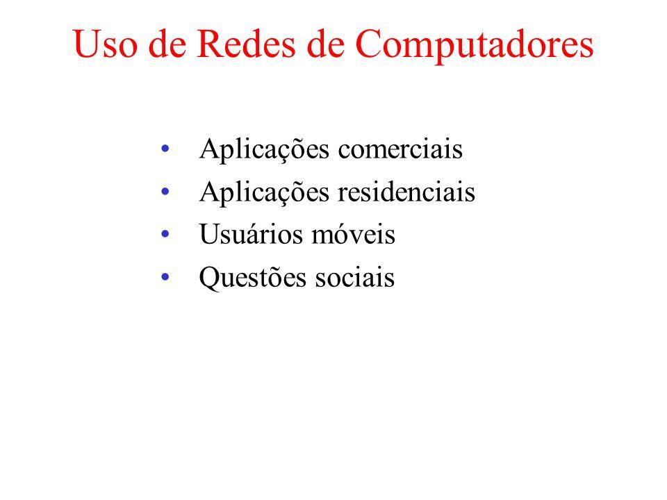 Uso de Redes de Computadores