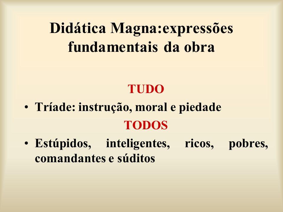 Didática Magna:expressões fundamentais da obra