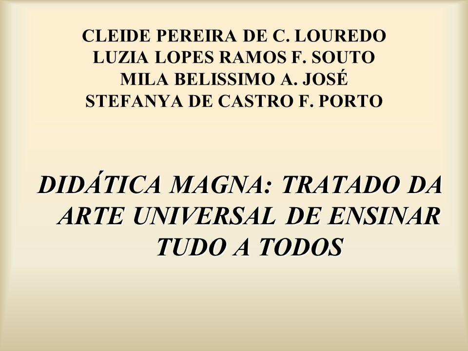 DIDÁTICA MAGNA: TRATADO DA ARTE UNIVERSAL DE ENSINAR TUDO A TODOS