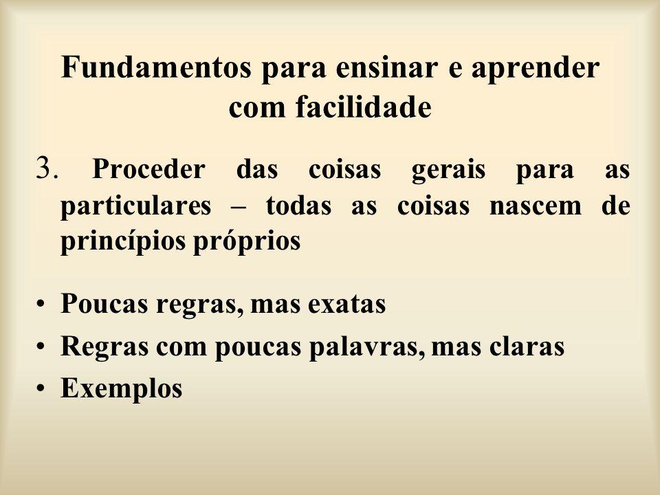 Fundamentos para ensinar e aprender com facilidade