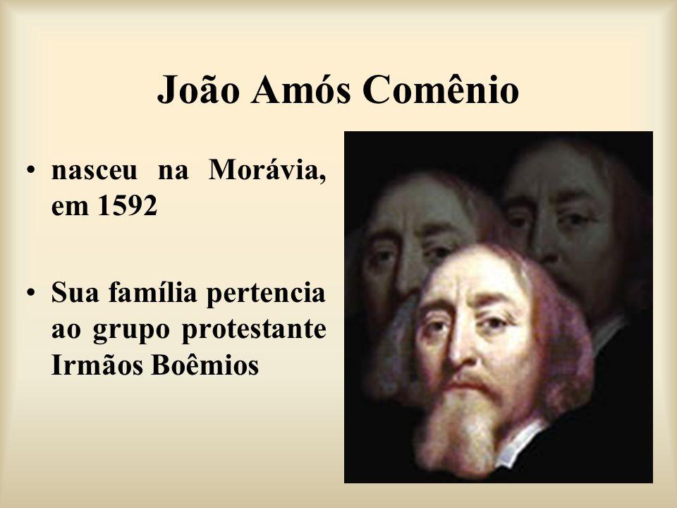 João Amós Comênio nasceu na Morávia, em 1592
