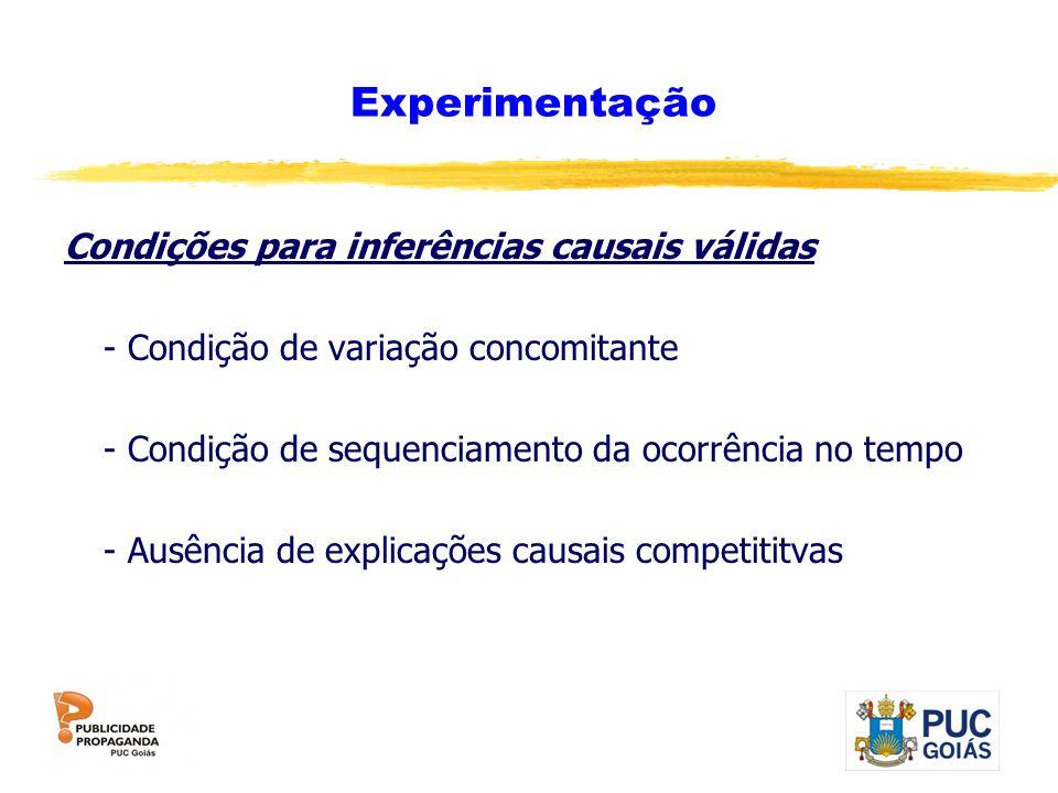 Experimentação Condições para inferências causais válidas