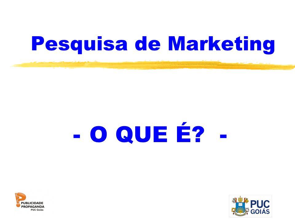 PESQUISA DE MARKETING Pesquisa de Marketing