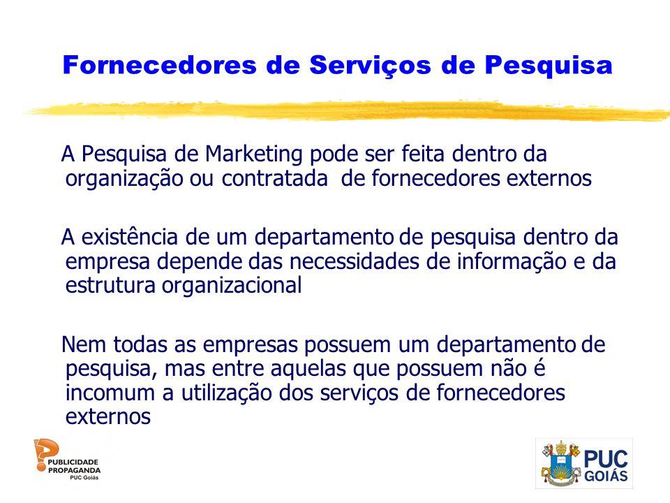 Fornecedores de Serviços de Pesquisa