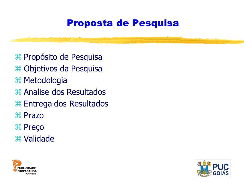 Proposta de Pesquisa Propósito de Pesquisa Objetivos da Pesquisa