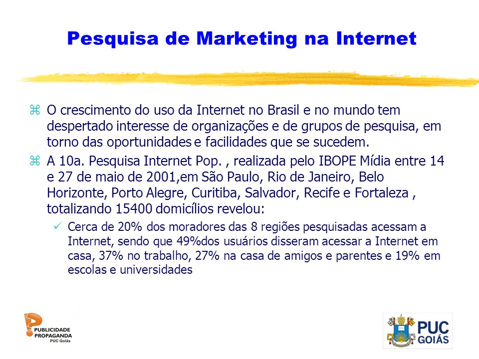 Pesquisa de Marketing na Internet