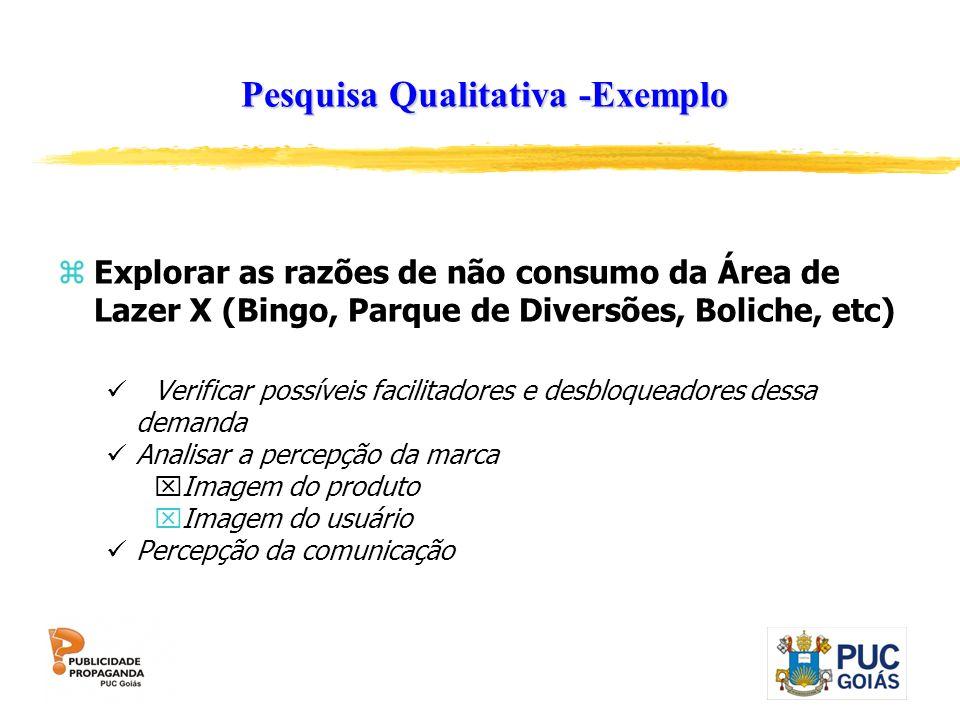 Pesquisa Qualitativa -Exemplo