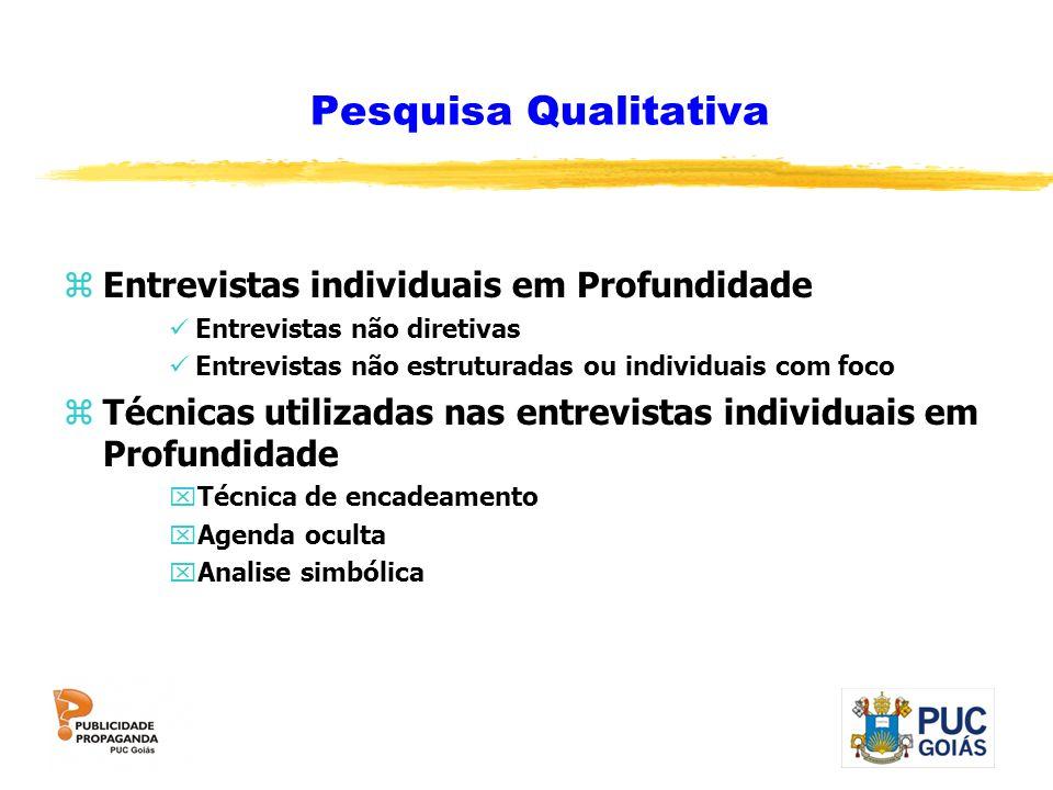 Pesquisa Qualitativa Entrevistas individuais em Profundidade