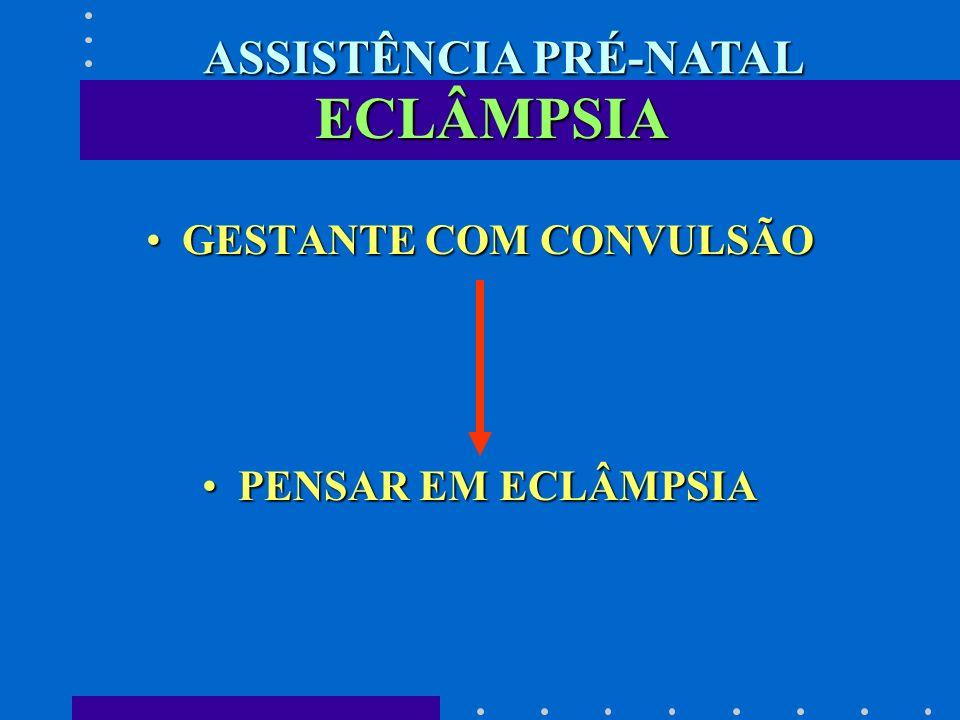 ASSISTÊNCIA PRÉ-NATAL GESTANTE COM CONVULSÃO